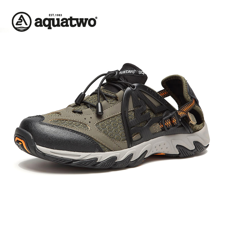 AQUATWO Men Latest Outdoor Wading Shoes Fast Dry Upstream Shoes Breathable Water Shoes Wholesale HDS-102260 Shoes Men's(China (Mainland))
