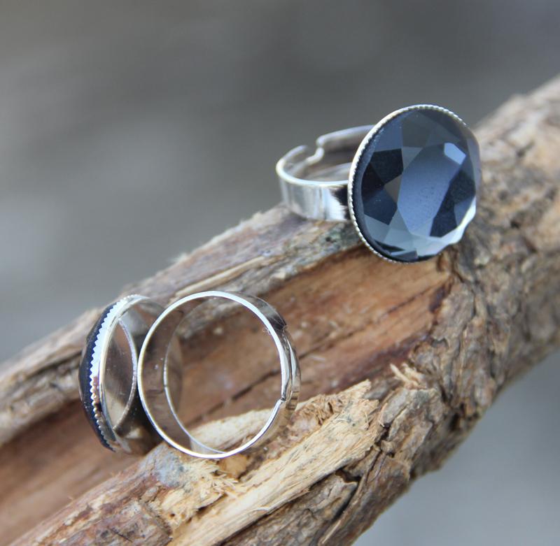 Original design general blue glass ring fashion accessory free shipping(China (Mainland))