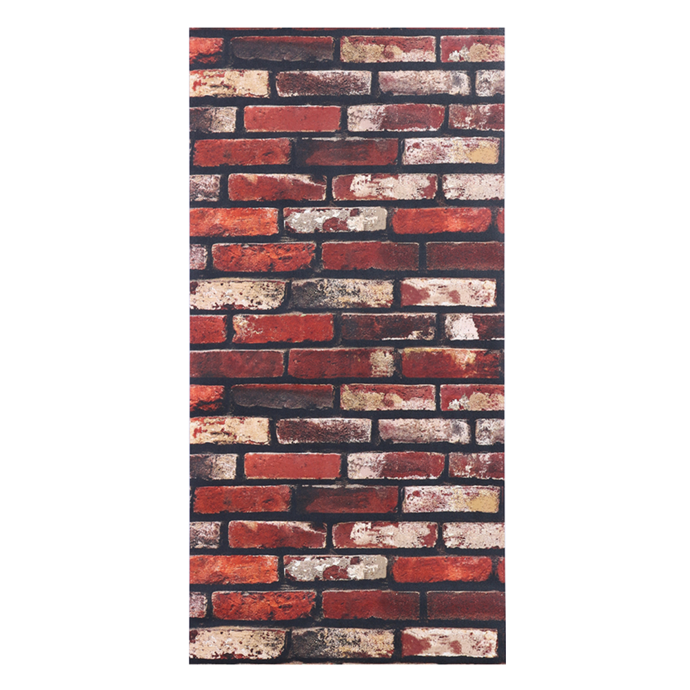 Online get cheap glass brick bathroom for Brick wall decal mural