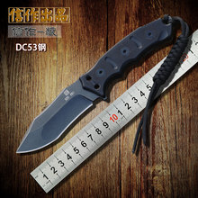 2015 XINZUO newest wild mountain high hardness DC53 HUNTING knife straight knife Outdoor survival tactics knives FREE SHIPPING