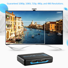 Full HD 1080p HDMI Splitter Amplifier 1 In to 2 Out Dual Display with IR Wireless Remote and Power Adapter(China (Mainland))
