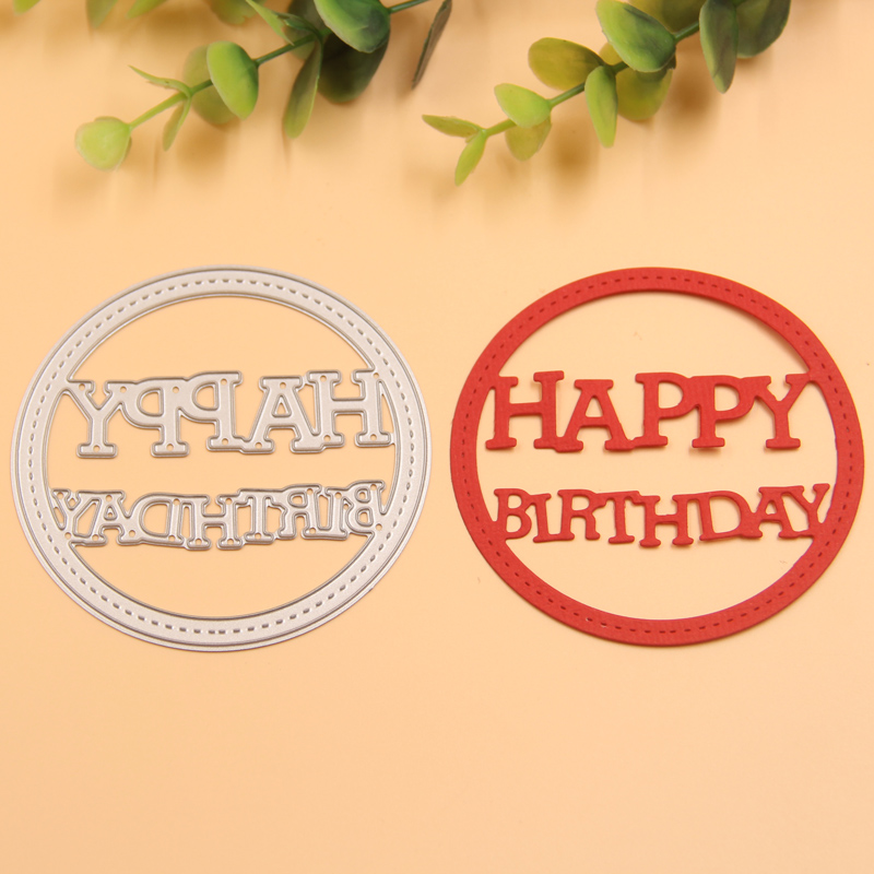 Happy Birthday metal die cutting dies scrapbooking embossing folder suit for sizzix fustella big shot cutting machine