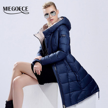 MIEGOFCE 2015 womens winter down jackets and coats women High Quality Warm Female thickening Warm Parka Hood Over Coat(China (Mainland))