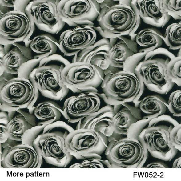 Free Shipping width 50cm FW052-2 5Square rose flower pattern hydrographic films water transfer film(China (Mainland))