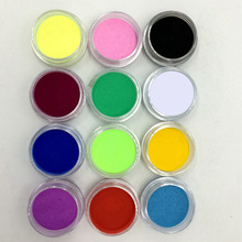 12 Pcs Mix Colors  Acrylic Nail Art Dust Powder Decoration for Tips