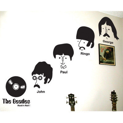 2016 sale new rock 39 n roll music wall sticker the beatles for Rock n roll living room