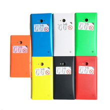 Original new battery housing shell for Nokia Lumia 730 735 back case cover door with side botton(China (Mainland))