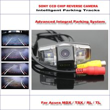 Buy HD SONY Car Rear Camera Acura MDX / TSX / RL / TL Intelligent Parking Tracks Reverse Backup / NTSC RCA AUX 580 TV Lines for $54.28 in AliExpress store