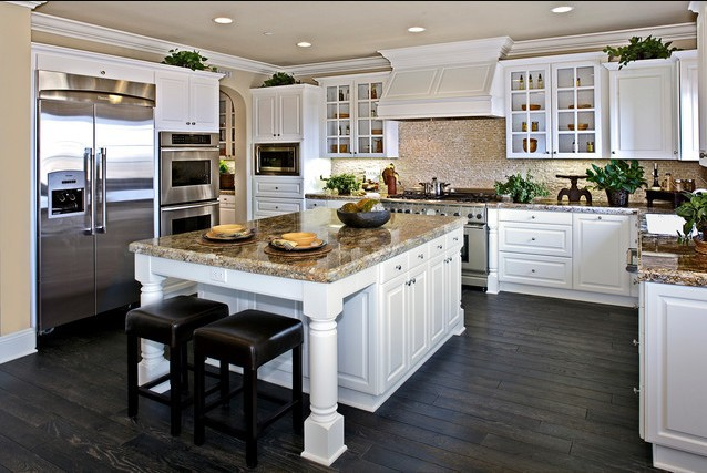 Free design custom american solid wood kitchen cabinet for American kitchen design