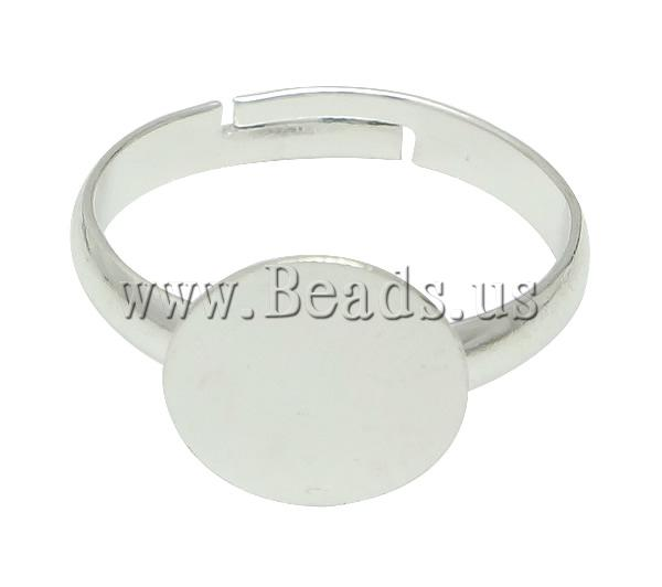 Free shipping!!!Brass Pad Ring Base,Wedding, silver color plated, nickel, lead & cadmium free, 10x10mm, Hole:Approx 17.5mm(China (Mainland))