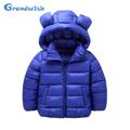 Grandwish New Winter Children Small Ears Down Jackets Girls Solid Hooded Warm Coat Boys Outerwear Kids