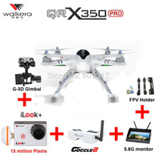 Walkera QR X350 Pro 6CH FPV GPS Drone with iLook plus camera Brushless Devo10 RC Quadcopter Dron VS Phantom 3 EMS Free Shipping