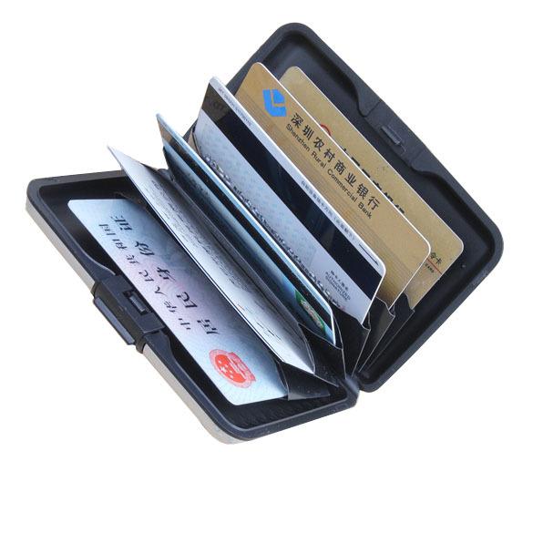 Business ID Name Credit Card Wallet Holder Aluminum Metal Case Box Waterproof E1(China (Mainland))