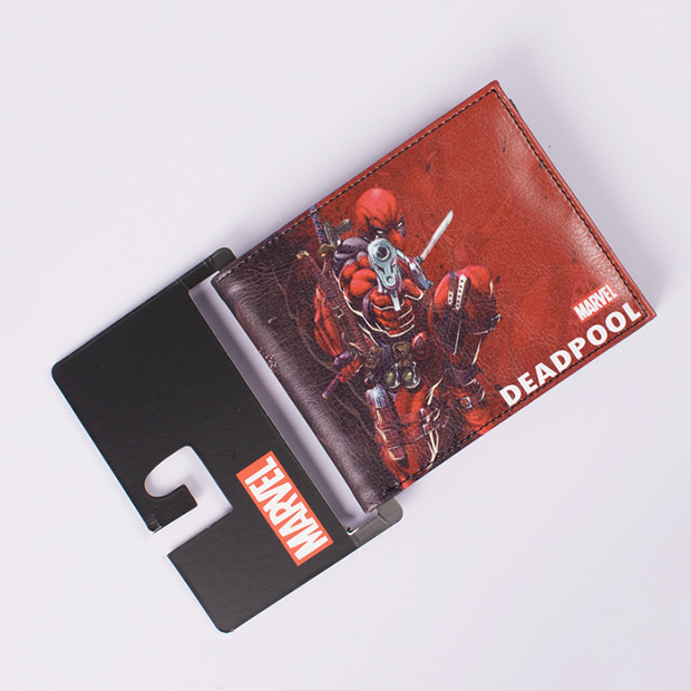 Comics DC Marvel Wallet Men Women Gift Card Holder Bags Deadpool Anime Cartoon Purse Dollar Price Leather Wallets<br><br>Aliexpress