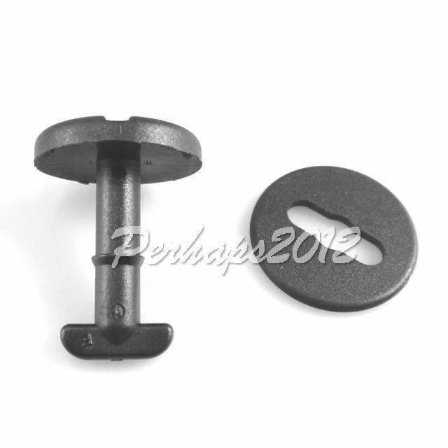 500x Floor Carpet Mat Clips For E36 E46 E38 E39 Series Twist Lock with Washers for BMW 3 Series 82119410191<br>