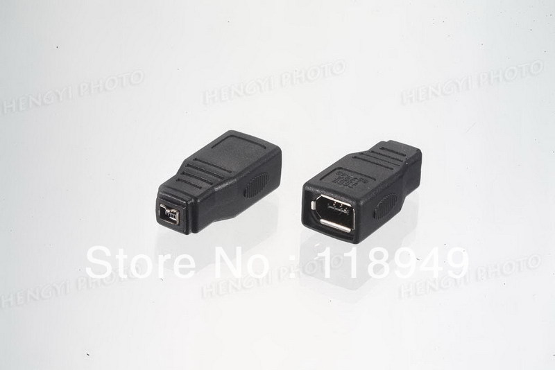 500pcs /lots Wholesale IEEE 1394 6Pin to 1394 4Pin Adapter ,Free shipping by Fedex<br><br>Aliexpress