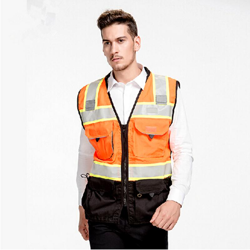 High Visibility Reflective Vest M-4XL Safety Vest Working Clothes   Cycling Sports motorcycle Reflective vest
