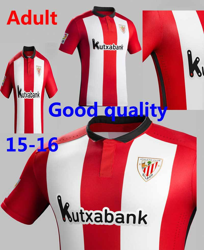 Embroidery 2015 Athletic Bilbao Soccer Jersey Thai Quality 15 16 shirt Home ITURRASPE MUNIAIN SUSAETA ADURIZ football(China (Mainland))