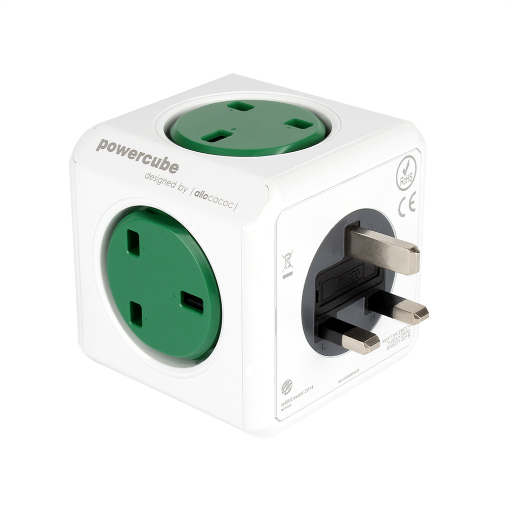 Allocacoc PowerCube 13A/230V Wall Socket 5 Outlets UK Standard Plug Adapter Safety Charging Power Receptacles Enchufe Univeral(China (Mainland))
