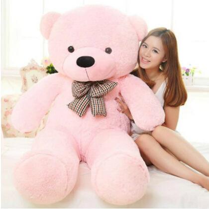 Giant teddy bear 140cm big stuffed toys for girl animals plush life size kid children baby dolls lover toy valentine gift lovely(China (Mainland))