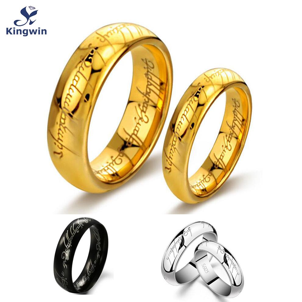 One Ring Of Power Gold Silver Black The Lord Rings Women Finger Wedding Band Fashion Jewelry Accessory Wholesale Drop Ship