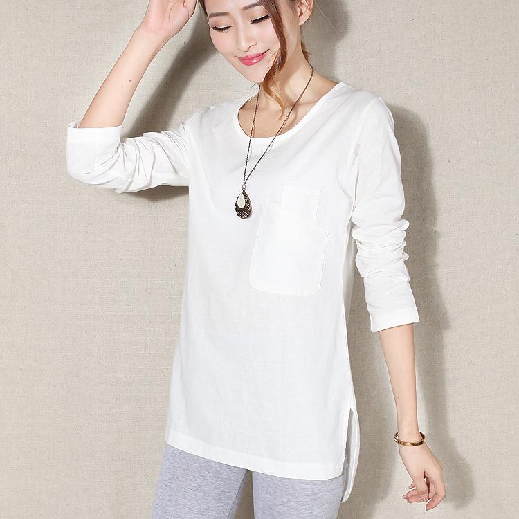 Popular White Linen Shirt Women Buy Cheap White Linen
