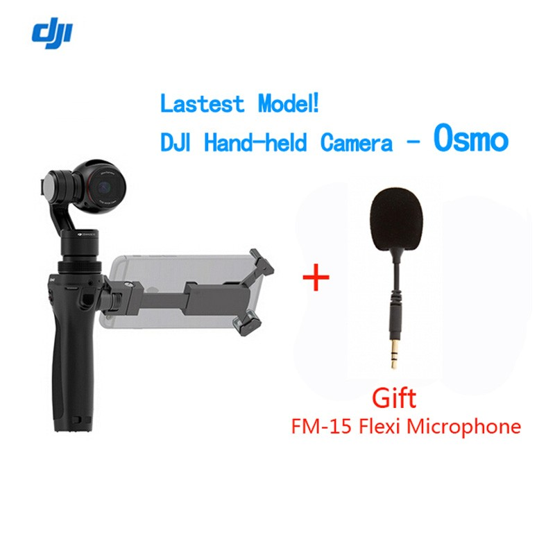 DJI OSMO Handheld Gimble 4K Camera With Gift FM-15 Flexi Microphone and Stabilizer Original phantom 3 3-Axis Gimbal
