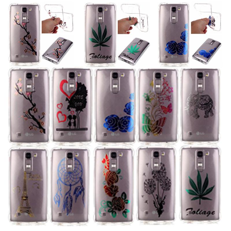 Surprise Price Fashion bronzing Pattern Soft TPU Phone Case Coque LG K8 Case silicone Back Cover Case Fundas LG K8