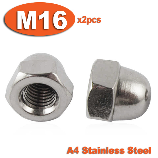 2pcs DIN1587 M16 Stainless Steel A4 Marine Grade Hex Hexagon ACORN Domed Cap Nuts<br><br>Aliexpress