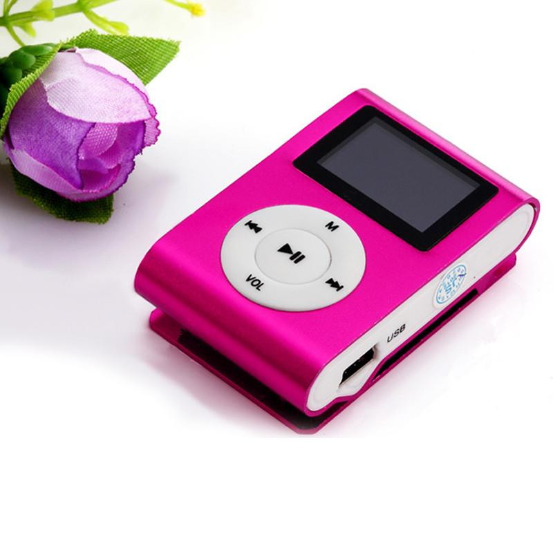 New LCD Screen Metal Mini Clip MP3 Player with Micro TF/SD Slot Portable MP3 Music Players Free Shipping(China (Mainland))