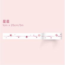 0,7-1 cm * 3m nuevo Rosa oro fino washi cinta DIY decoración scrapbooking planificador cinta adhesiva cinta etiqueta engomada de la etiqueta(China)