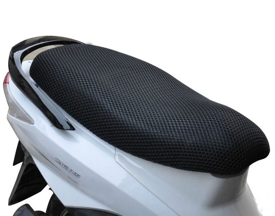 Honeycomb Motorcycle Cool Seat Cover Summer Mesh Polyester ...