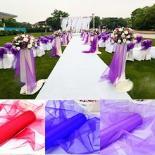 Crystal Sheer Organza Roll For Wedding Decoration