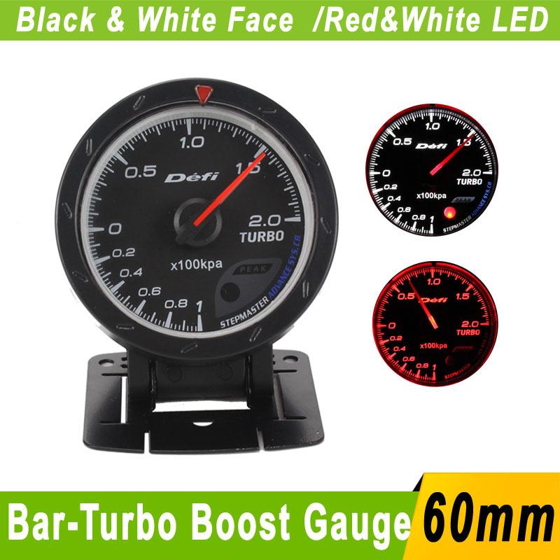 60mm Car Bar Turbo Boost Gauge Meter Defi Gauge 60mm advance Cr Car Boost Meter Sensor Auto Car Turbo Boost Pressure Turbo Meter(China (Mainland))