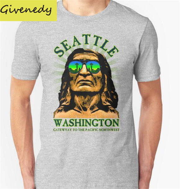 Hot sale Seattle - Gateway to the Pacific Northwest T-Shirt 2016 New Summer Casual T-shirt Fashion Short Sleeve O Neck T Shirts(China (Mainland))