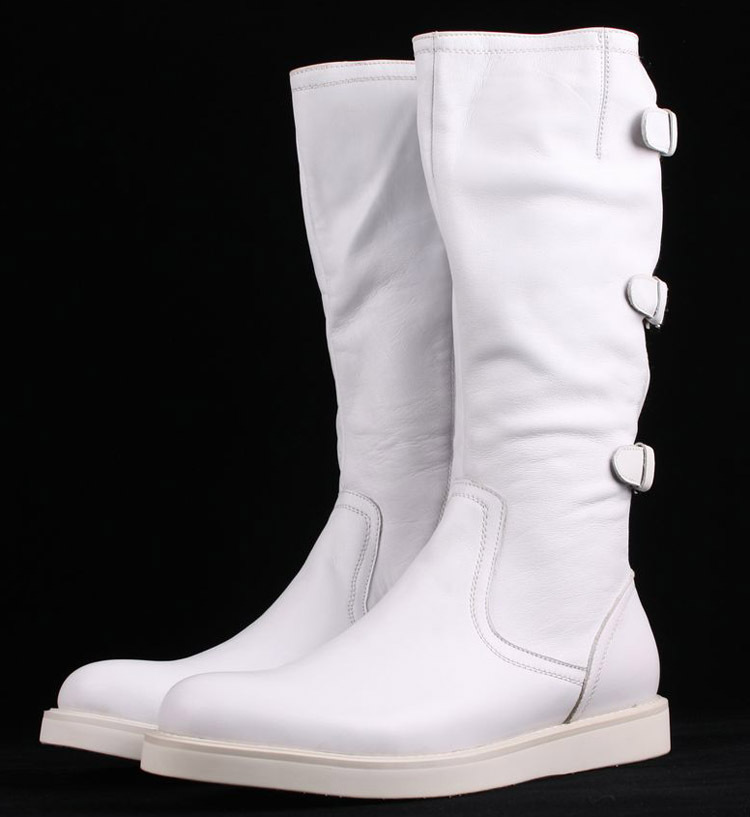 Compare Prices on Mens White Motorcycle Knee High- Online Shopping ...