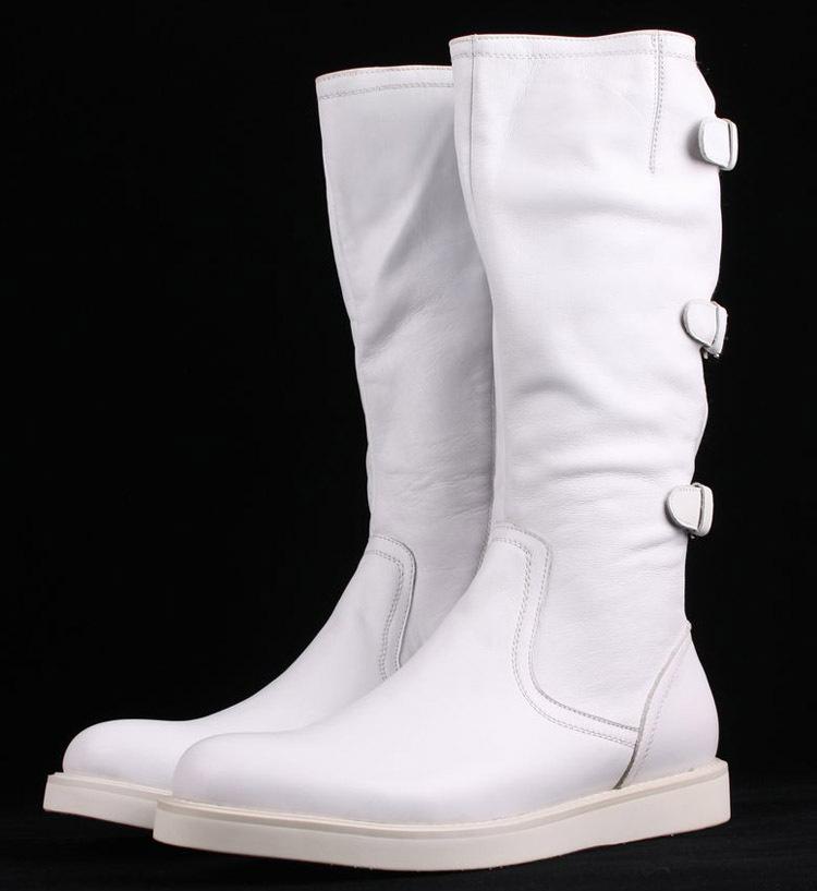Men White Boots Fashion 31