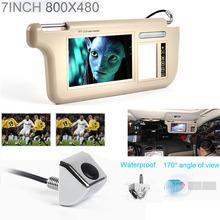 Fochutech Touch 7inch Car Sun visor DVD/TV Media Screen&Rear View Silver Backup Monitor/Camera kits