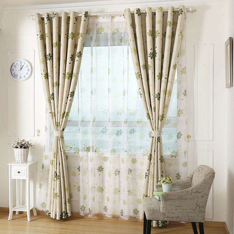 2015 New Arrival Hot Sale Printed Garden Curtain Cortina