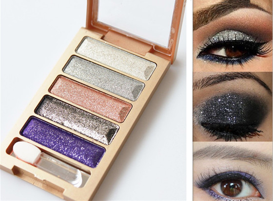 5 Colors Diamond High Qualtiy pigment makeup eyeshadow pallete to eye kit maquiagem eye shadow beauty