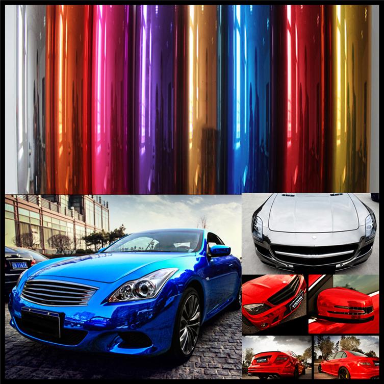 152*60CM 3 Layer Plating Mirror Chrome Vinyl Car Body Color Changing DIY Decoration Gloss Foil Sticker(China (Mainland))