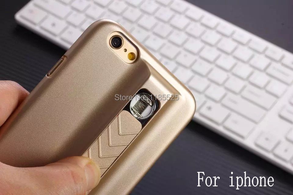 New High Quality Businessman Style USB Electronic Cigarette Lighter Case Cover for iPhone 5 5s 6 6s 6 Plus with Retail package(China (Mainland))
