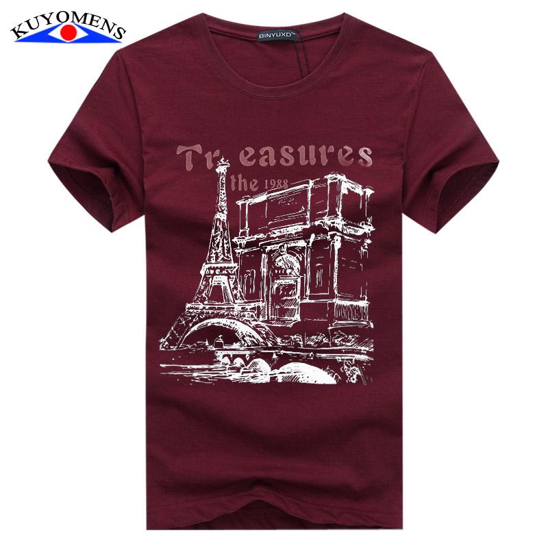Men t shirt cotton plus size tee shirt homme summer short for Plus size men shirts