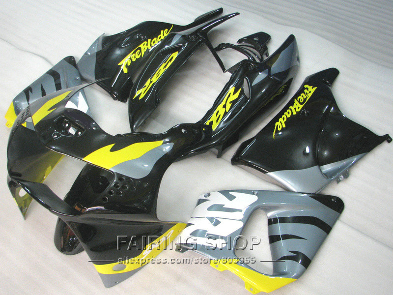 Silver Yellow CBR900 RR 919 1998 1999 For honda Fairings ( Fairing kit ) cbr 900rr 98 99 CN06