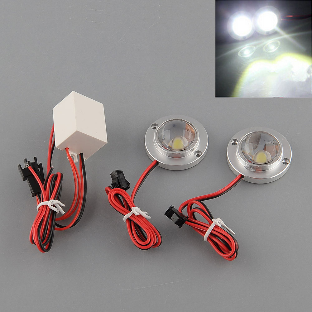 Car Auto Vehicle 2 LED Strobe Flash Flashing Emergency Driving White High quality Durable Useful Bulb Lamp Light Controller(China (Mainland))