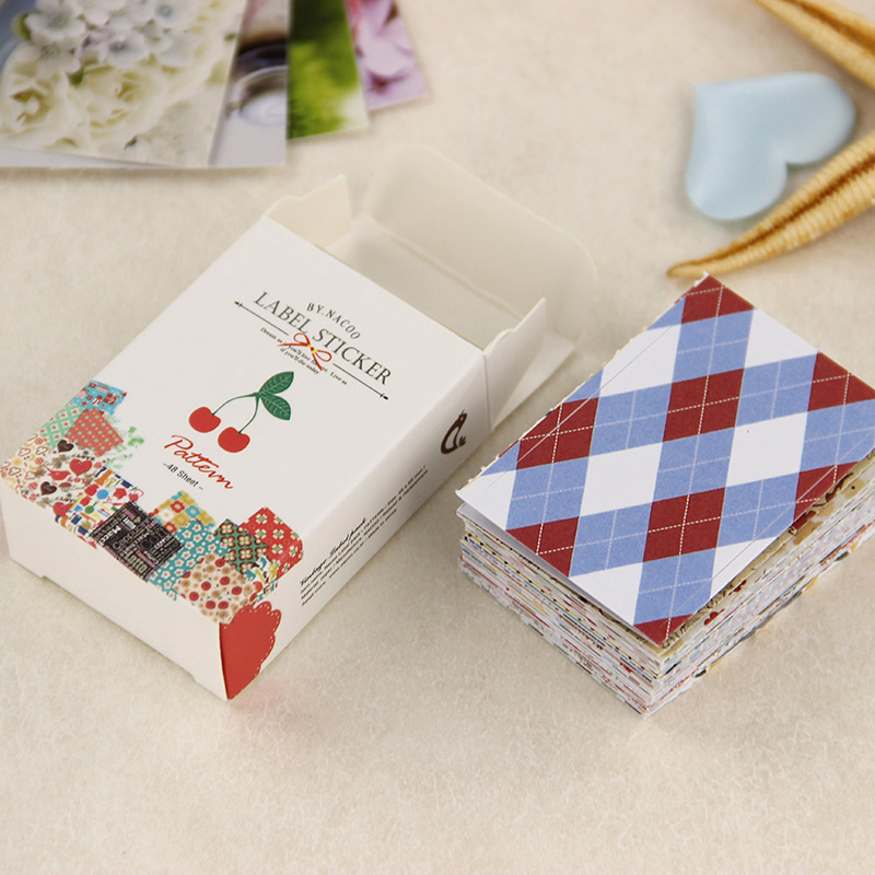 52 pcs/lot Creative Retro Sticker DIY Kawaii Matchbox Stickers Album Diary Scrapbooking Decoration stationery Supplies(China (Mainland))