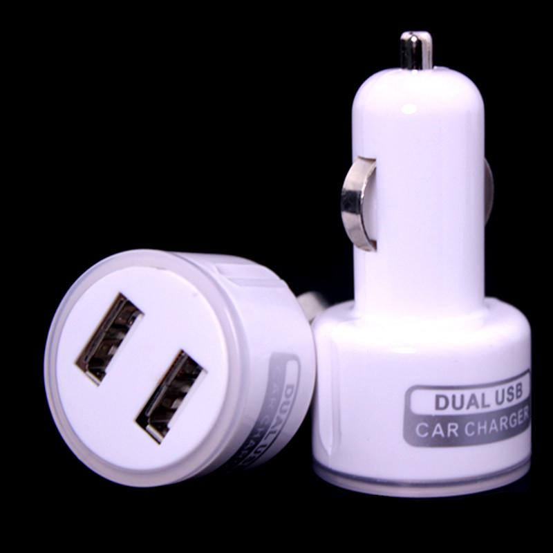 Wholesale price 1000pcs/lot led light dual usb ports 2.1A+1A car charger adapter for iphone 5 6 samsung s3 s4 s6 s7 for mp3 gps(China (Mainland))