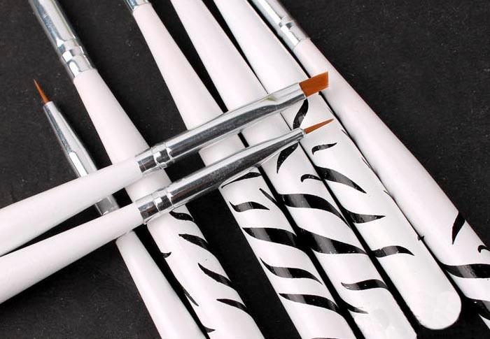 Free Shipping 8PcsSet  Design UV Gel Brush Nail Art Manicure Acrylic Dotting Painting Drawing Polish Brush Pen Tool Set03