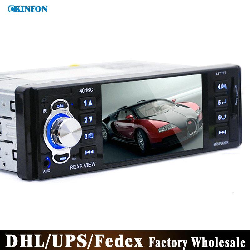 "DHL/Fedex 50pcs/lot 12V 4.1"" TFT HD Car Radio Audio Video MP5 DVD Player Rear View Camera with USB SD AUX Ports LCD Display(China (Mainland))"