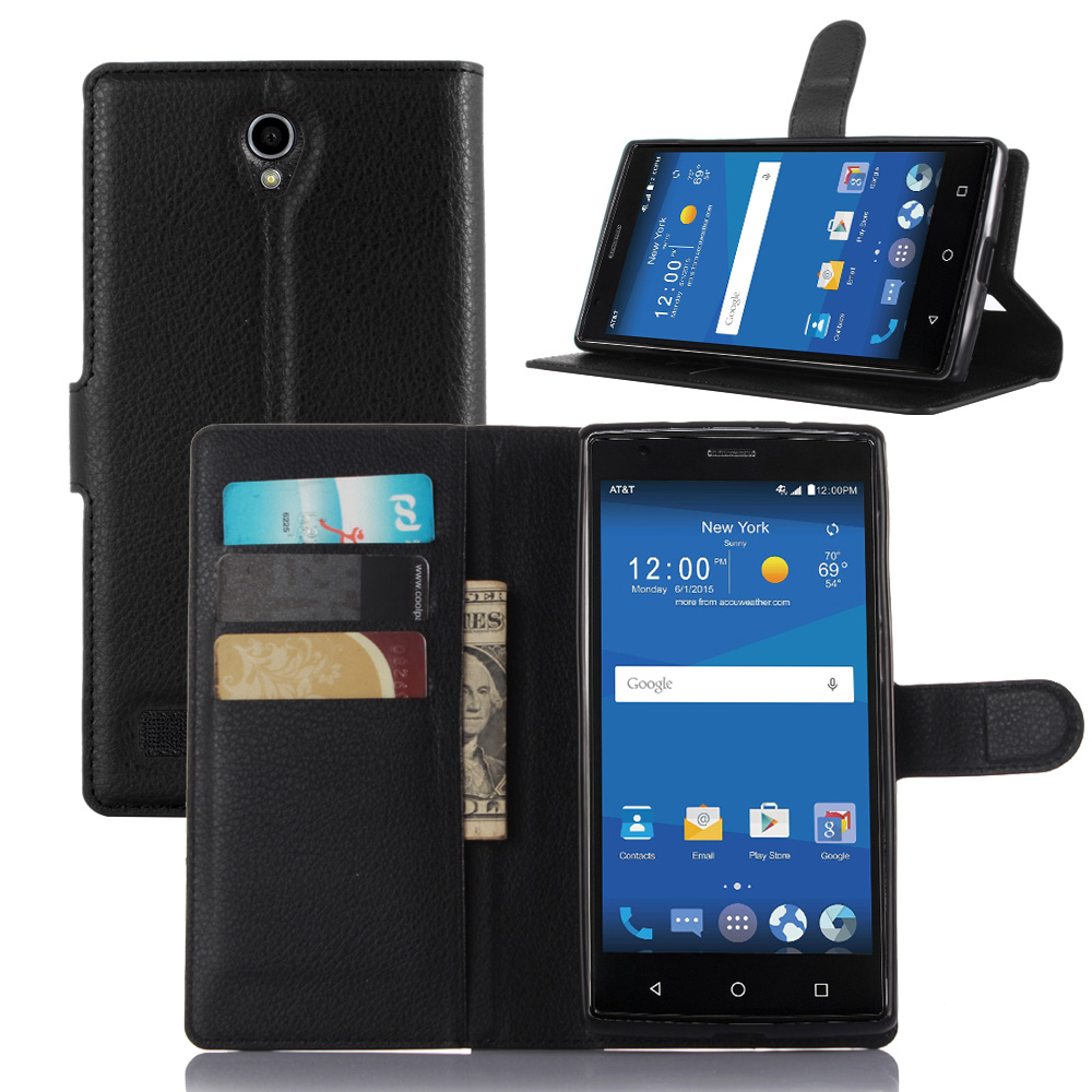 Free shipping luxury fundas for zte zmax 2 z958 z955l phone case stand wallet leather flip cover - Fundas zte ...